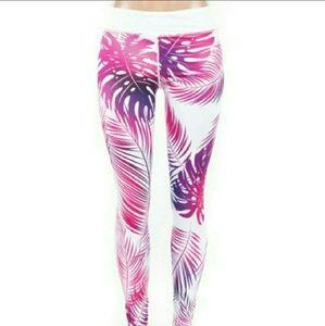Pants - SALE!💥⚡️High Waist Palm tree Leaf Leggings💥⚡️